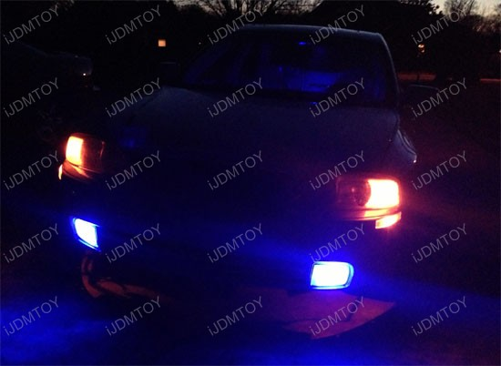 Lincoln LS Blue LED H10 Fog Light Bulbs 2