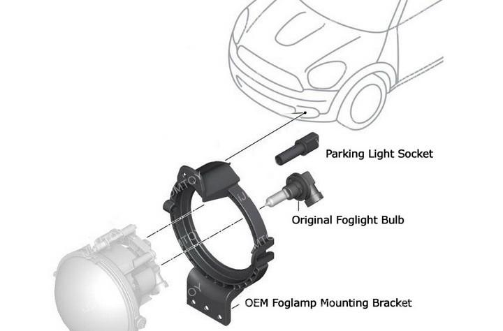 MINI Cooper LED DRL Install 09