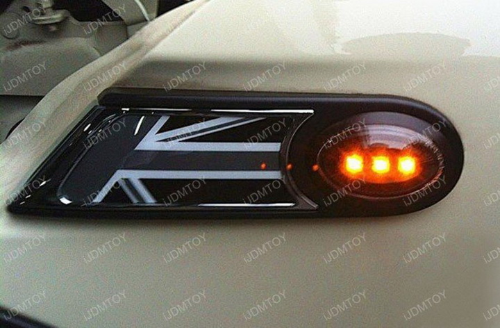 MINI Cooper LED Sidemarker 04 amber led black side marker lights for mini cooper r55 r56 r57 r58 Nissan Altima Wire Harness at nearapp.co