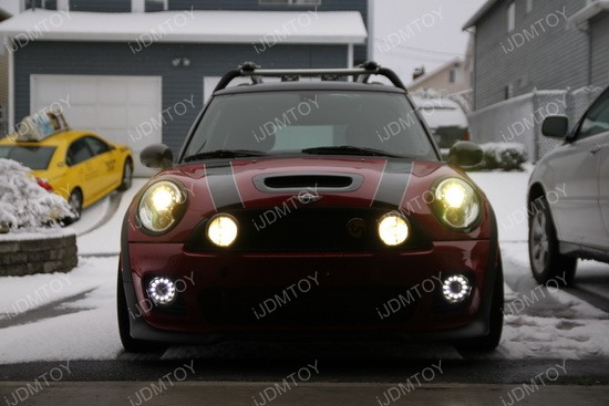 Mini Cooper LED DRL fog 05