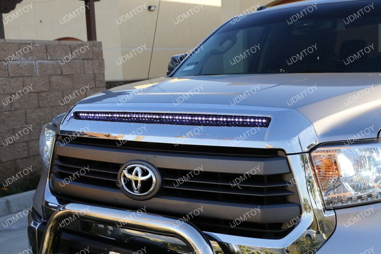 Toyota Tundra Led Hood Bulge Strip Light Installation