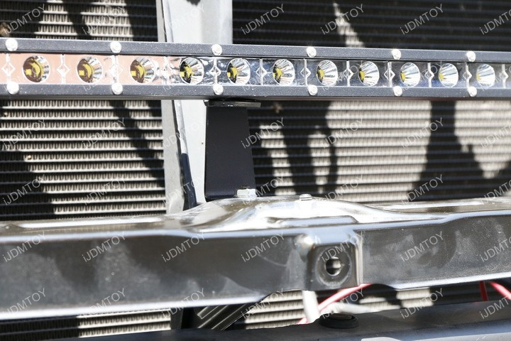 Install Toyota Tundra Behind Grille LED Light Bar 12