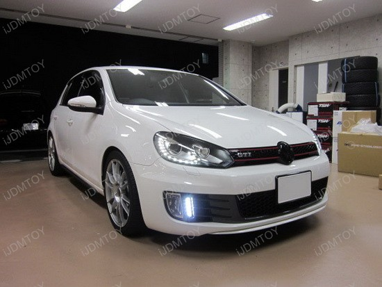Exact Fit Volkswagen GTi LED DRL Kit 3