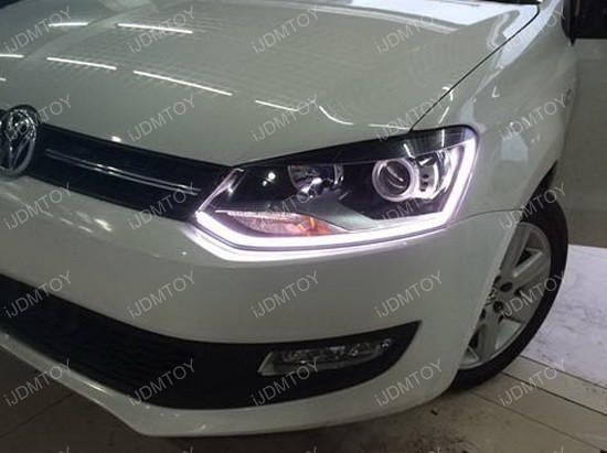 Led Headlight Retrofit Strips On Volkswagen Mk7 Gti