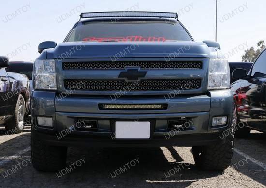 Chevrolet Silverado 1500 2500HD 3500HD Lower Bumper Under Grill LED Light Bar