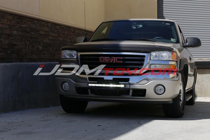 Bull bar style license plate LED light bar