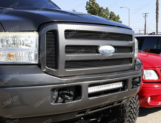 Ford F250 Lower Bumper Grille Mount High Power LED Light Bar