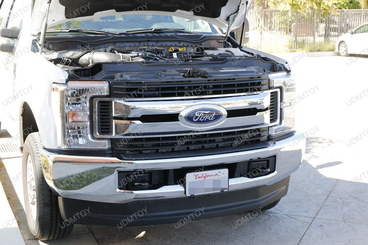 Install lower bumper grill mounted ford f250 led light bar install ford f250 f350 super duty 84w led light bar mozeypictures Gallery