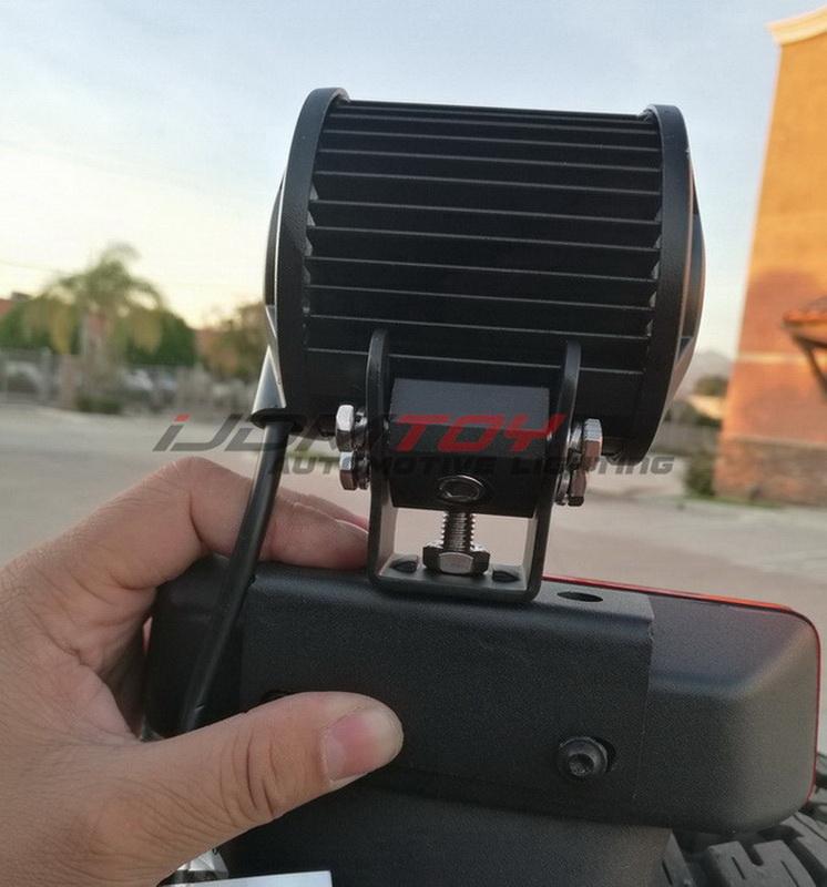 How To Install Above Brake Lamp LED Pod Light For Jeep Wrangler