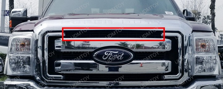 Ford F250 Super Duty Grille Mount Single Row LED Light Bar