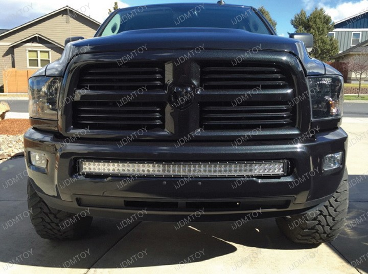 Install 240w curved led lightbar on 10 17 dodge ram 2500 extremely bright dodge ram 2500 3500 40w cree led light bar aloadofball