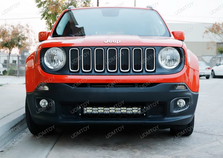 Install Jeep Renegade Behind Grille 20 Quot 120w Led Light Bar