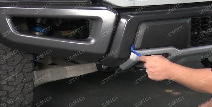 Ford F150 Raptor Over The Bumper 40 Inch 240W Double Row Curved LED Light Bar Install Guide