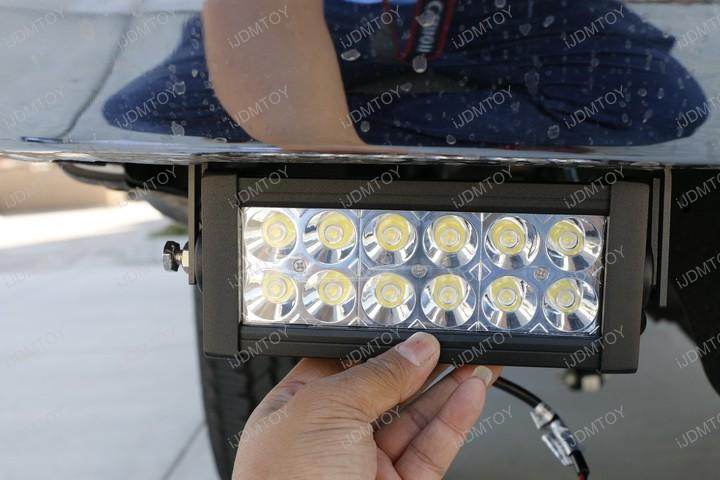 Install Rear Lower Bumper Ford F250 F350 Super Duty Dual 36W Double Row LED Light Bar