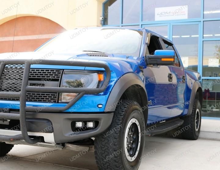 Install 100W High Power CREE LED Light Bar Fog Light Lamp for 2010-2014 Ford F150 Raptor