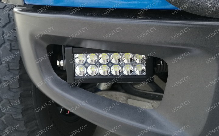 Install 100W High Power CREE LED Light Bar Fog Light Lamp for 2010-2014 Ford F150 Raptor