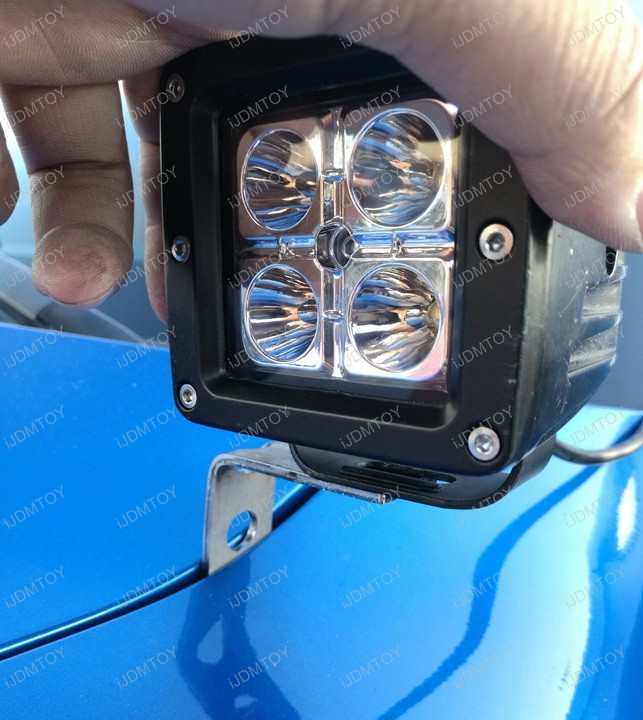 Install Ford F150 Raptor A-Pillar High Power LED Pod Light Lamp