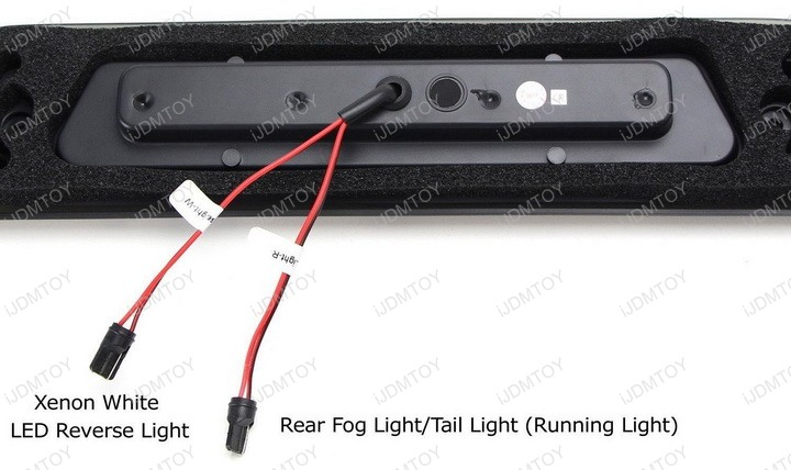 Smoked Red Lens LED High Mount Tail Fog Reverse Clearance Light Assembly for Ford F150 Explorer Lincoln Mark LT