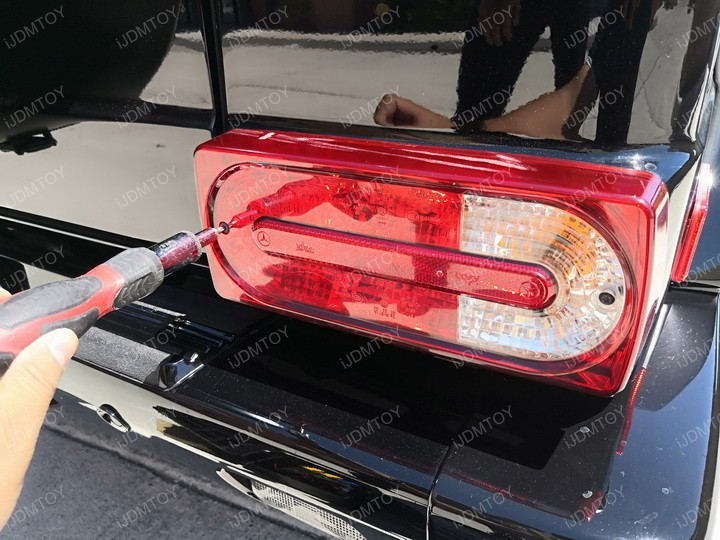 Install 1999-2018 Mercedes W463 G-Class Smoked Red Lens LED Turn Signal Tail Light Lamps