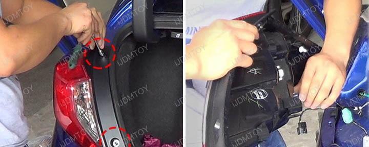 Honda Civic Sedan JDM Style Fluid Style LED Rear Bumper Reflector and Fog Light Lamp