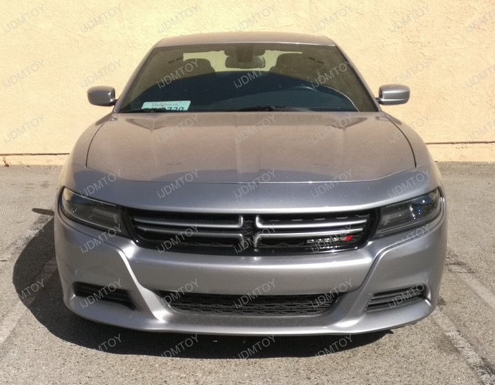 Install 2015 and later Dodge Charger No Drill Required Front License Plate Mounting Bracket Relocation Kit
