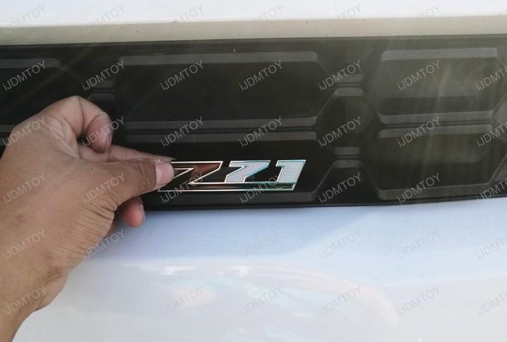 Install Chevrolet Chevy  Z71 Chrome Alloy Metal Badge Emblem