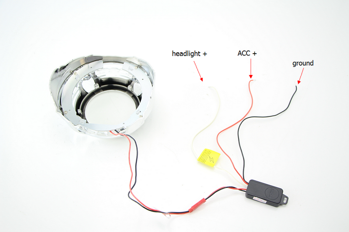 Porsche Style Bi-xenon Projector Lens Shroud Wires