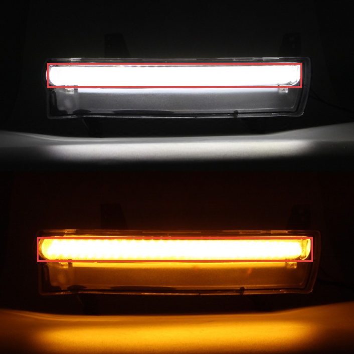 Jeep Compass Xenon White Amber Yellow LED Daytime Running Turn Signal Light Lamp Glue Marks