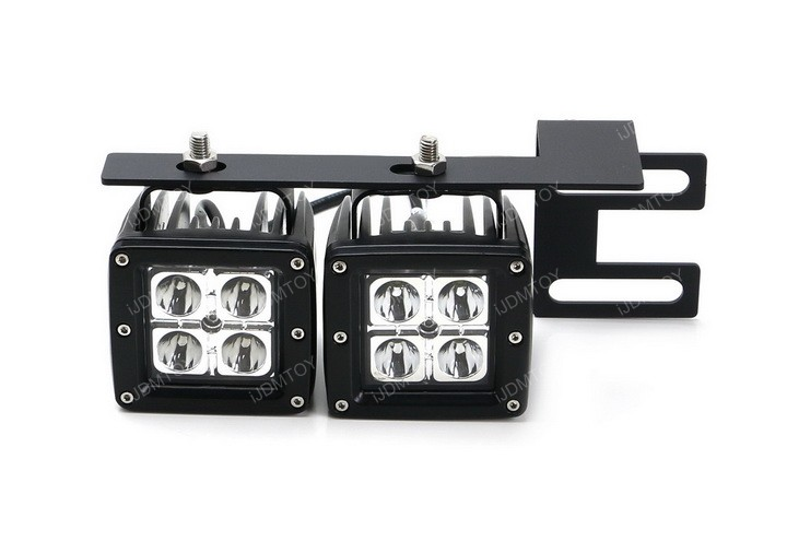 Install  Dodge RAM 2500 3500 80W Dual CREE LED Pod Light Lamps
