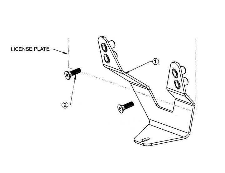 Bull Bar License Plate Relocator Relocation Mounting Bracket Installation Guide
