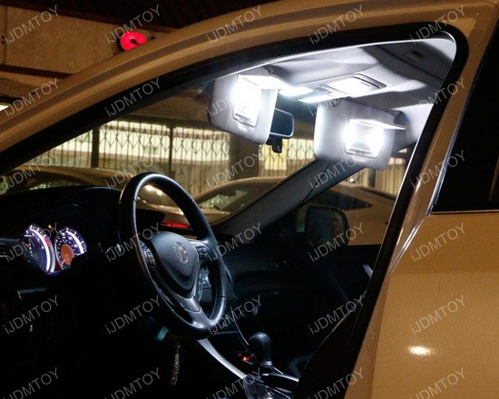 Vanity Lamp In Car : Car Vanity Mirror Lights Sun Visor 29mm 6641 LED Light Bulbs