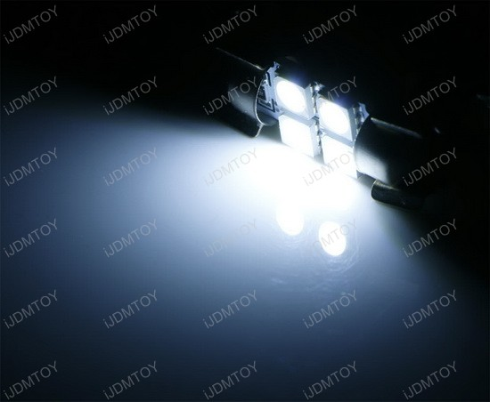 4-SMD-5050 Festoon LED Bulbs For Lexus Toyota Scion and Subaru