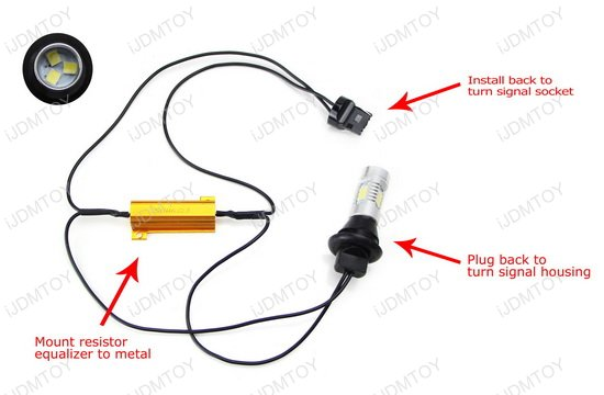 No Hyper Flash 7440 Led Turn Signal Light Bulbs Plug N