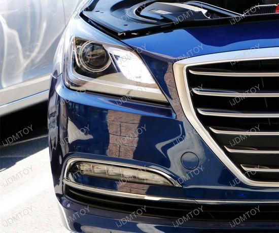 Hyundai Genesis Price Range: Hyundai Genesis LED DRL Daytime Running Lights And Turn