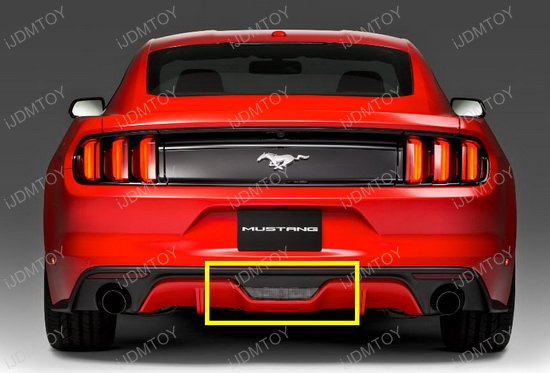 in 1 led rear fog light brake reverse light for 2015 up ford mustang. Black Bedroom Furniture Sets. Home Design Ideas