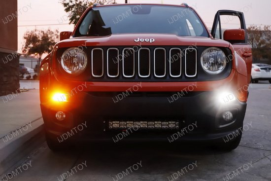 Renegade Bumper Replacements : Jeep renegade led drl turn signal lights w no hyper flash
