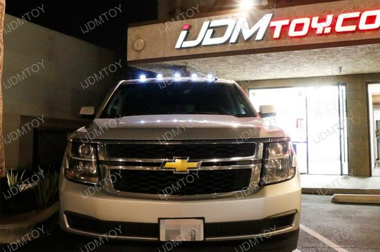 Truck Roof Top White LED Cab Marker Lights
