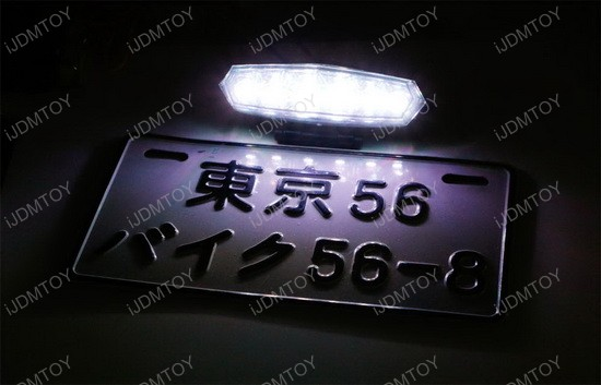 Motorcycle License Plate Mount with LED