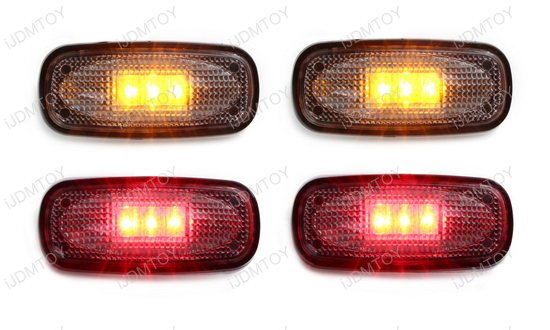 Amber Red Truck LED Fender Side Marker Lights