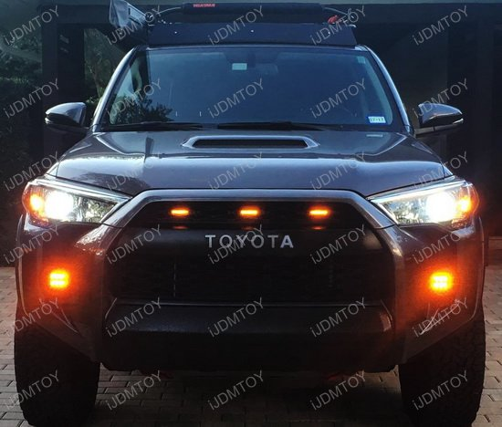 Toyota Tacoma 4runner 3pcs Amber Lens Led Grille Marker Lights