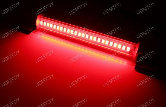 Universal fit red led rear fog lamp or 3rd brake light bar super red led brakerear fog light kit aloadofball Image collections