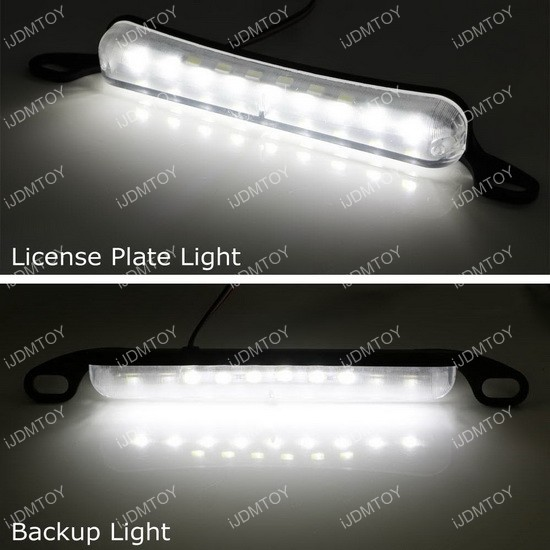 Bolt-On LED license plate lights reverse lights