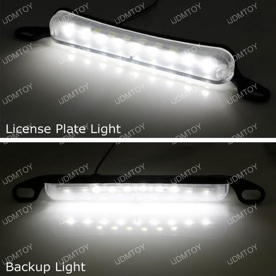 Bolt-On LED license plate lights reverse lights