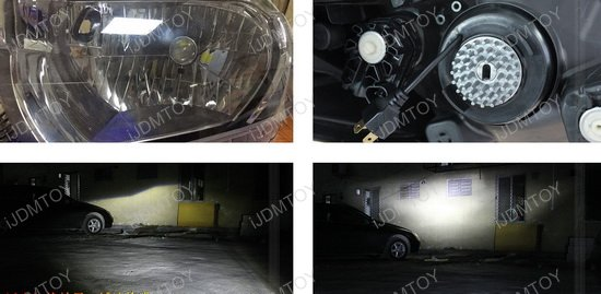 H4 LED Headlight Lens