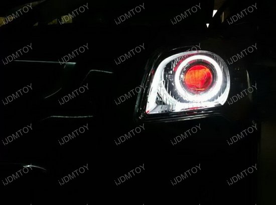 3.0 Bi-Xenon Projector Lens with GTI style LED halo ring shroud