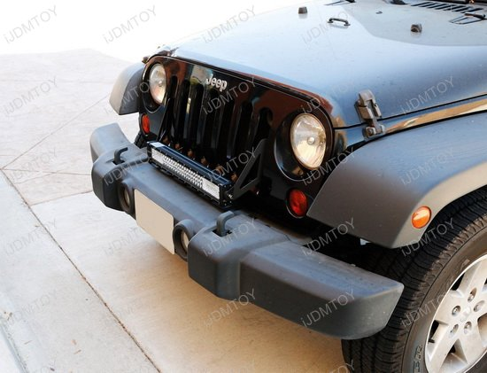 21 floodspot beam triple row high power led light bar w front grille mounting brackets relay wire switch for 2007 2017 jeep wrangler jk jeep wrangler front grille led light bar aloadofball Image collections