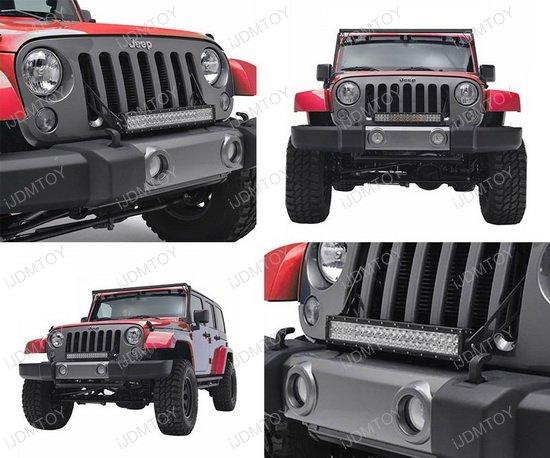 Jeep Wrangler JK Dual Color LED Light Bar