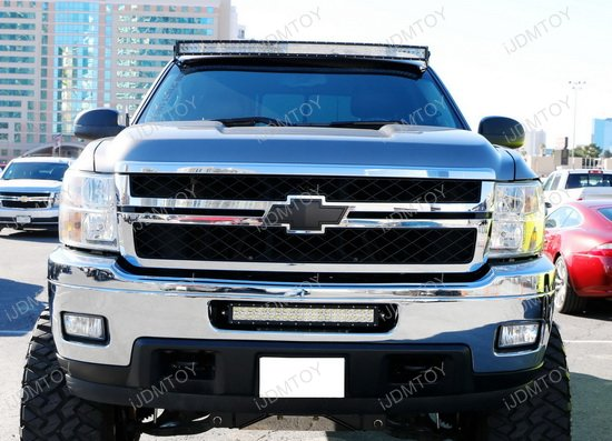 120w high power led light bar for chevrolet silverado 2500hd chevy silverado 2500hd led light bar aloadofball Image collections