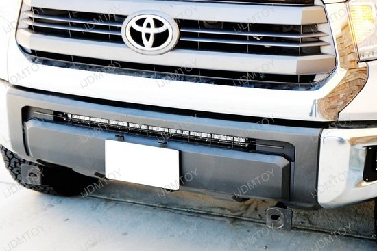 Toyota Tundra Ultra Slim High Powered CREE LED Light Bar Behind Grill