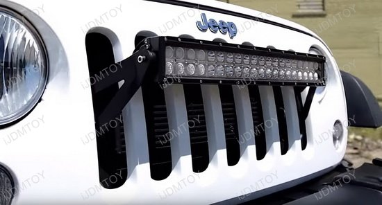 Jeep Wrangler Front Grille LED Light Bar